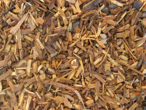 Щепа декоративная коричневая натуральная, 50 литров